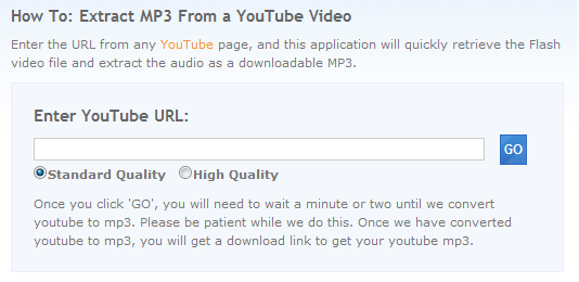 extract mp3 from youtube videos online